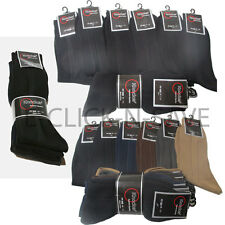 Wholesale Lot Knocker Men Ribbed Black Assorted Dress Socks Casual 9-11 10-13