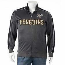 New Majestic NHL Pittsburgh Penguins Mens Track Jacket Officially Licensed!!!