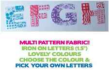 """IRON ON Fabric LETTERS! Size 1.5""""! Multi Listing! 4 Designs"""