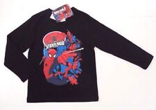 Marvel Ultimate Spider-Man Boys Kids Black Long Sleeve T-Shirt Sizes 6,7 NWT