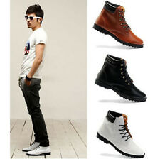 Mens round lace up high top Oxford platform driving casual Shoes boots hot sell