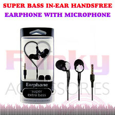 Superior Extra Bass Stereo Studio Sound In Ear Hands Headset Earphones+Mic