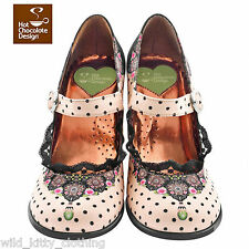 Hot Chocolate Design Shoes Doris Double Topping Heels Victorian Vintage 8 10 11