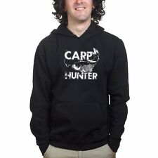 Carp Hunter Fishing Mens Sweatshirt Hoodie - Angler Tackle Bait