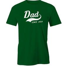 Dad Since 2014 T-Shirt Fathers Day Gift Idea Present Daddy Tee New