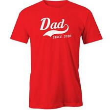 Dad Since 2010 T-Shirt Fathers Day Gift Idea Present Daddy Tee New