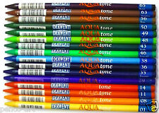 Single Derwent Aquatone pencils16 individual colours solid watersoluble lead