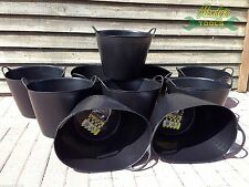 BUY 10: Medium 26L Gorilla Bucket Tub Recycled Flexi Strong Builder Trug SP26GBK