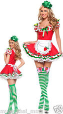 Sexy STRAWBERRY SHORTCAKE Costume Adult Womens Cosplay - (Small Medium Large)