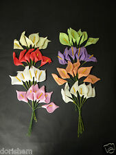 12 FOAM CALLA LILY ON WIRE. HOME, WEDDING DECORATION AND ALL CRAFTS!