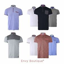 Brave Soul Mens Stylish Short Sleeve Shirt Fashion Neck Pocket Polo T-Shirt S-XL