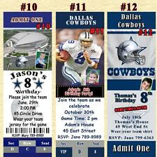 Dallas Cowboys Birthday Invitations or Thank You Cards Personalizerd Custom Made