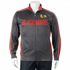 New Majestic NHL Chicago Blackhawks Mens Track Jacket Officially Licensed!!!