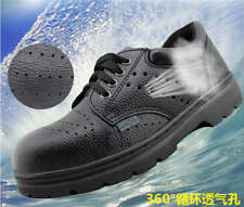 MENS WORK SAFETY SHOES LEATHER BOOTS STEEL TOE CAP ANKLE BOOTS SHOES TRAINERS 07