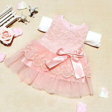 Baby Kids Girls Princess Tutu Dress Party Lace Bow Dresses Casual Sundress