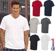 Fruit of the Loom V-Neck Heavy 100% Cotton T-Shirt Mens Womens Tagless NEW 39VR