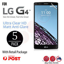 5x LG G4 Screen Protector film LCD guard for LG G4 Matt Anti Glare / Ultra Clear
