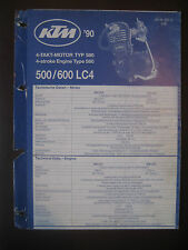KTM 1990 Part Number Diagram Poster ENGINE 4-Stroke Type 580 500 600 LC4 Manual
