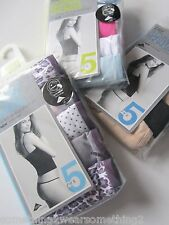 MARKS AND SPENCER 5 PACK COTTON LYCRA LOW RISE GARTER THONGS UK 10 12 14 16