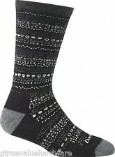 Darn Tough 1614 BLACK PEBBLES CREW Merino Wool Light CUSHION Sock Women's MED-LG