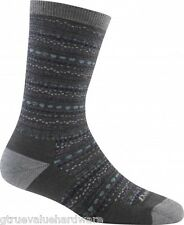 Darn Tough 1614 SLATE PEBBLES CREW Merino Wool Light CUSHION Sock Women's MED LG