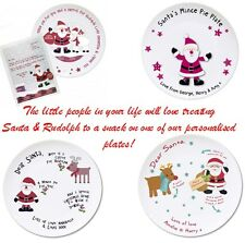 PERSONALISED Santa And Rudolph Mince Pie Drink And Carrot Christmas Eve Plate