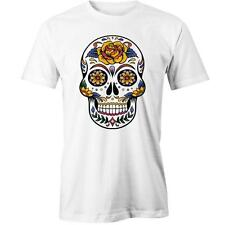 Sugar Skull Rose T-shirt Calavera Day of the Dead Mexican Design Tee New