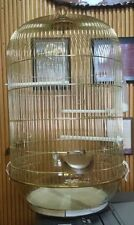 ROUND BRASS BIRD CAGE DOLLY #10640035 GREAT FOR CANARIES AND FINCHES