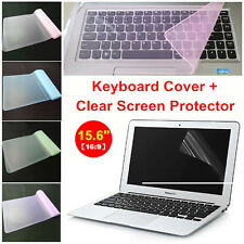 """Clear 15.6"""" Laptop Notebook LCD Monitor Screen Protector Cover+Keyboard Cover"""