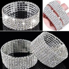 New Sparkly Full Crystal Rhinestone Bracelet Bangle For Women Bride Wedding UK