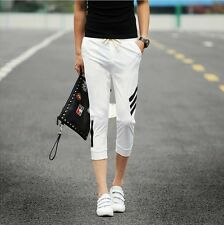 Summer Men's Stylish Slim Fit Pencil Trousers Sport Casual Cropped Pants