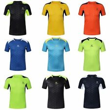 Mens Quick Dry Short Sleeve Sport T-shirt Fitness Stretchy Tops Tee Multi-color