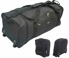 Extra Large Folding Wheeled Travel Sports Weekend Carry Holdall Luggage Bag New