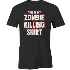This Is My Zombie Killing Shirt T-Shirt Walking Dead Apocalypse Halloween Costum