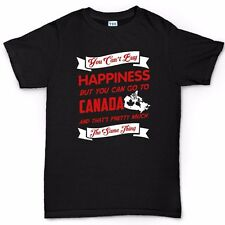 You Can't Buy Happiness Canada Funny Mens T shirt
