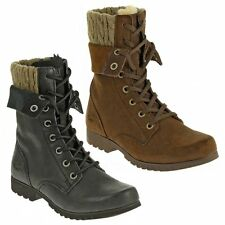 Cat ® ALEXI Ladies Womens Suede Leather Warm Lined Military Style Laced Boots