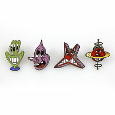 Set of 4 Pins by Kenny Scharf for ACME Studio NEW