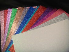 15 sheets .A4 Glitter Card 15 Assorted Colours Dovecraft Premium A4 220gsm Card!