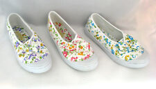 Womens Canvas Flats Shoes Ballet Bow Floral Sneakers Fashion Slip On Size 6-11