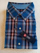 $55 MEN'S CHAPS NORTH COAST STYLE L/SLEEVE SHIRT~STRAIGHT FIT BUTTON-DOWN COLLAR