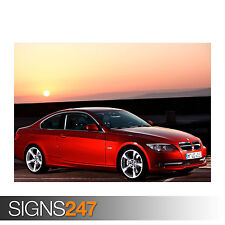 BMW SERIES 3 COUPE (0552) Car Poster -  Picture Poster Print Art A0 A1 A2 A3 A4