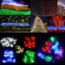 3Mx2M /4Mx6M LED Xmas Holiday Outdoor Garden Window Wall Fairy String Net lights