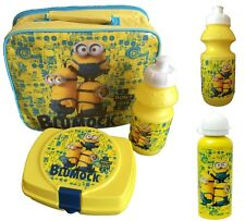 Despicable Me Minions School Lunch Bag Set and/or Aluminium / Sports Bottle