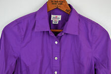 J CREW Haberdashery Shirt Sz PXS Stretch Button Up Purple Blouse Top