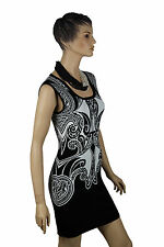 Guess Black White Sleeveless Evening Club Cocktail Party Race Mini Bodycon Dress