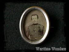 WW1 Imperial Austro-Hungarian German Sweetheart Picture Photo Badge Silver