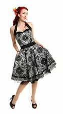 Womens Rockabilly Bandana Dress 40s 50s Swing Party Pinup Tattoo Vintage Tea
