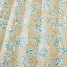 SMD iLiv Charlton Azure Floral Print 100% Cotton Curtain Fabric