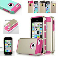 Hybrid Heavy Duty Shockproof Hard Soft Rubber Impact Case Cover For iPhone 5C