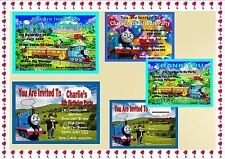 THOMAS THE TANK ENGINE Birthday Party Invitations Personalised or Thank You x10